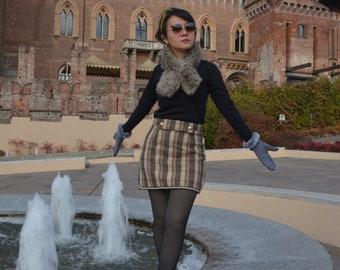 WOOL SKORT  skirt, vintage women ,Classy mini skirt,Scottish mini skirt