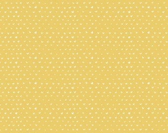 Timberland- Hearts in Gold from Dear Stella - 1/2 Yard