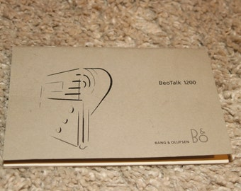 Bang and Olufsen BeoTalk 1200 Answering Machine Telephone Instructions Only