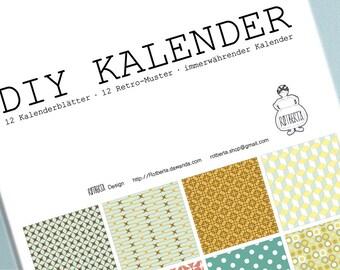 Photo calendars, birthday calendars, handicraft calendars, din A4, 2018, Perpetual, birthday calendar, photo calendar