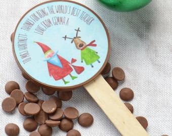 Christmas Gift for a Teacher | End of Term | Thank You Teacher | Teacher Present | Belgian Chocolate | Chocolate Lolly | Food Gift Idea