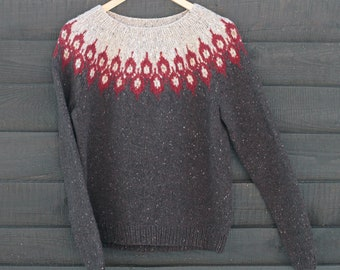 Hand Knitted Sweater. Lopapeysa