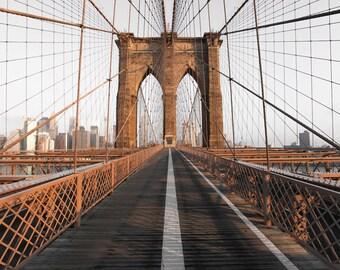 New York - Brooklyn Bridge Photo Print, New York Photography, NYC, New York Wall Art, Manhattan, NYC Canvas