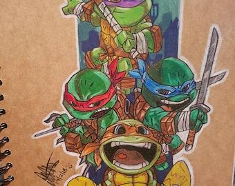 Drawing Teenage Mutant Ninja turtles