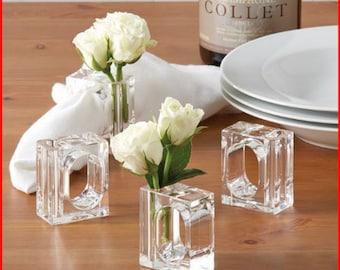 Acrylic Bud Vase Napkin Ring (Set of 4)