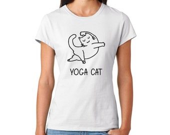 Yoga Cat, Yoga T-shirt, Cat T-shirt, Yoga Lover Shirt, cat lover gift, cat shirt, Cat shirt, womens t-shirt, girlfriend gift, gifts for her