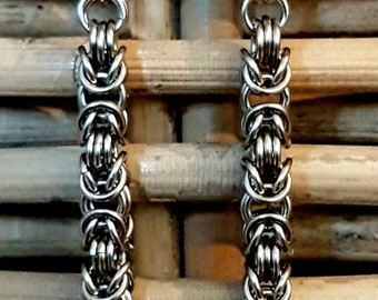 Byzantine Stainless Steel Chainmaille Earrings