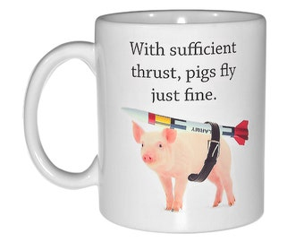 When pigs fly  coffee or tea mug