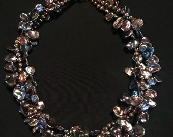 Keishi pearl toursade necklace designed by Anita  Kutella