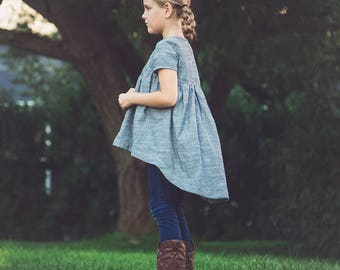NEW Avondale tunic PDF pattern and tutorial 12m-12y  tunic dress jumper blouse
