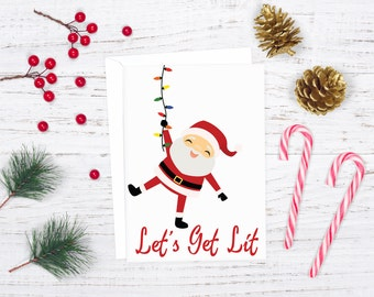 elfed up christmas card download digital holiday card funny