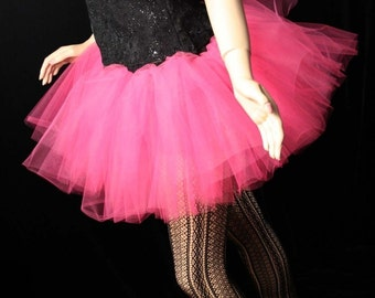 Hot Pink Passion extra poofy tutu skirt Adult petticoat dance halloween costume race run  -- You Choose Size -- Sisters of the Moon
