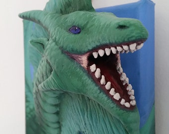 Custom Order Your Own 3D Dragon Creature Painting - Made to Order Dragon, Fantasy Creature, OOAK Creature