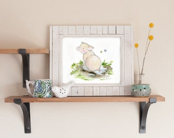 Children's Art, Farm Nursery Art, Pig Nursery Print, Pig Nursery Art, Kids Wall Art, Farm Nursery Decor, Baby Room Decor, Baby Pig Picture