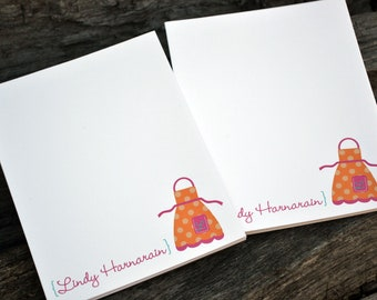 Personalized Notepads / Apron Notepads / Kitchen Notebook / Personalized Apron Note Pads/ Set of Notepads /  Set of 2 Cooking Apron Design