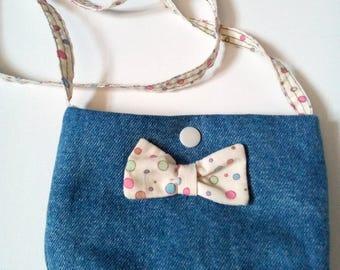 Girl denim shoulder bag/Messenger