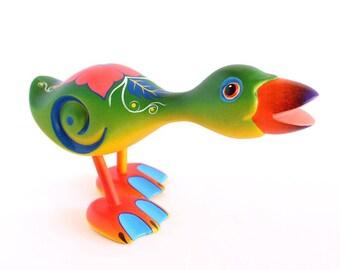 Wooden Green Duck