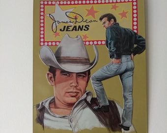 Vintage James Dean Jeans Tin Sign by Eric Wehder
