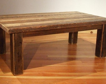 Reclaimed barn wood Rustic Heritage Coffee Table2