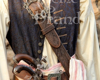 Jack sparrow screen accurate Leather pirate Baldric / Scabbard included