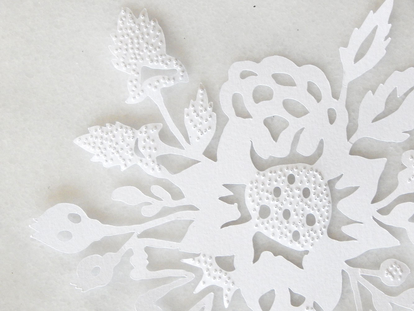 flower art  paper cut art  white flower paper cut  floral