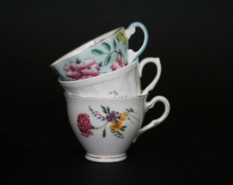 vintage orphan tea cups set of three