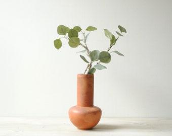 Vintage Terra Cotta Vase, Flower Vase, Rustic Vase