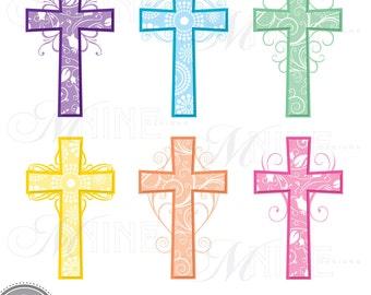 easter clipart easter crosses clipart christianity clipart rh etsy com free clip art happy easter religious religious easter clip art black and white