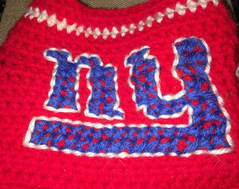 Crocheted New York Giants Doggie Sweater