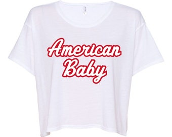 American Baby Flowy Boxy Cropped Tee