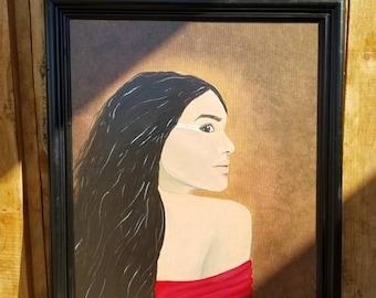 Ghigau (ᎩᎦᎤ) Acrylic Painting On Stretched Canvas Framed 16x20