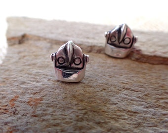 Iron Giant (Inspired) Pure Silver Earrings