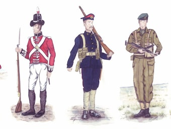 Historic Uniforms of the Royal Marines from 1664 to the Present Day - Signed Art Print