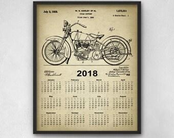 Harley Davidson Motorcycle Calendar 2018 - Harley Davidson Motorcycle Design Calendar - 2018 Harley Davidson Calendar - 2018 Calendar