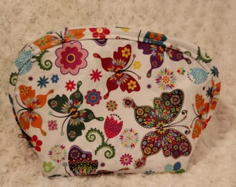 Butterfly cosmetic bag, womans accessories, purse, gift for her, pouch, waterproof