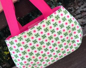 Pink Green Flower Little Girl's Purse