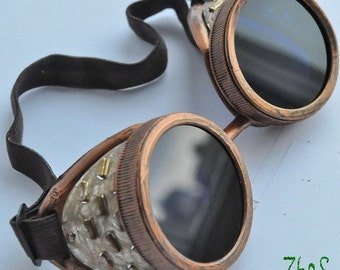 Steampunk Cyber Goggles Glasses Cosplay Anime Rave   13