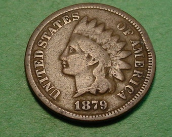 1879 Indian Head Cent Good <> The Coin you see is the coin you get <> Free S.H. to U.S.<>  <>ET0013