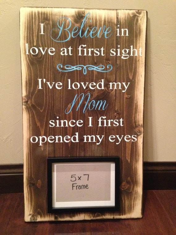 Gift For Mom On Wedding Day: Framed Wood Sign/ Mom Rustic Wood Sign/ Mother's Day Gift/