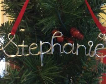Personalized wire name ornament,Stephanie ornament