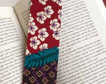 Gold Butterfly Bookmark (with red/purple)