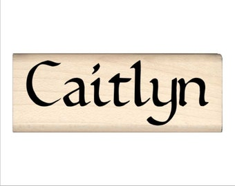 Caitlyn - Name Rubber Stamp for Kids