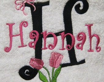 PILLOWCASE Tulip and Bow Personalized FREE