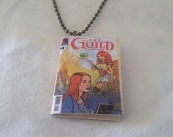 Mini Guild Comic Book Pendant - Comic Book Necklace - Mini Comic Book Jewelry - Mini Guild Comic Book Pendant  -  Comic Book Necklace