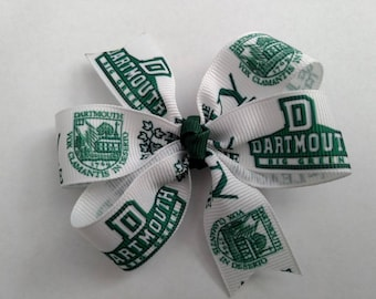 Darmouth Big Green hair clip bow