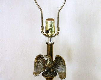 Federal Eagle Lamp Brass Mid Century