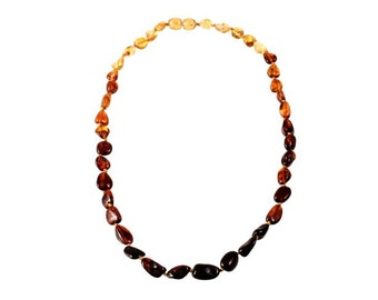 Baltic Colorful Natural Raw Amber Necklace Beads