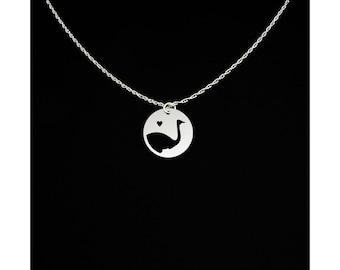 Ostrich Necklace - Ostrich Jewelry - Ostrich Gift
