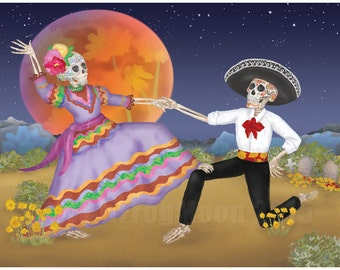 Dansant dans l'impression de désert