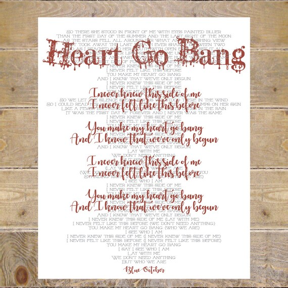 Blue october blue october lyrics heart go bang lyrics heart stopboris Images